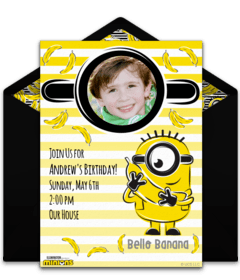 free despicable me online invitations