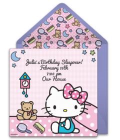 Free O Kitty Online Invitations Punchbowl