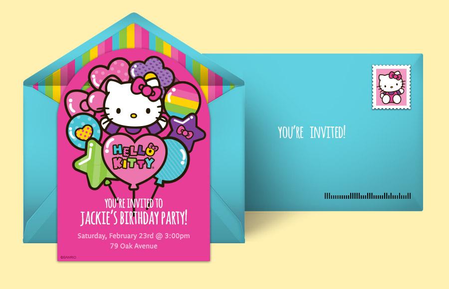 free hello kitty invitations hello