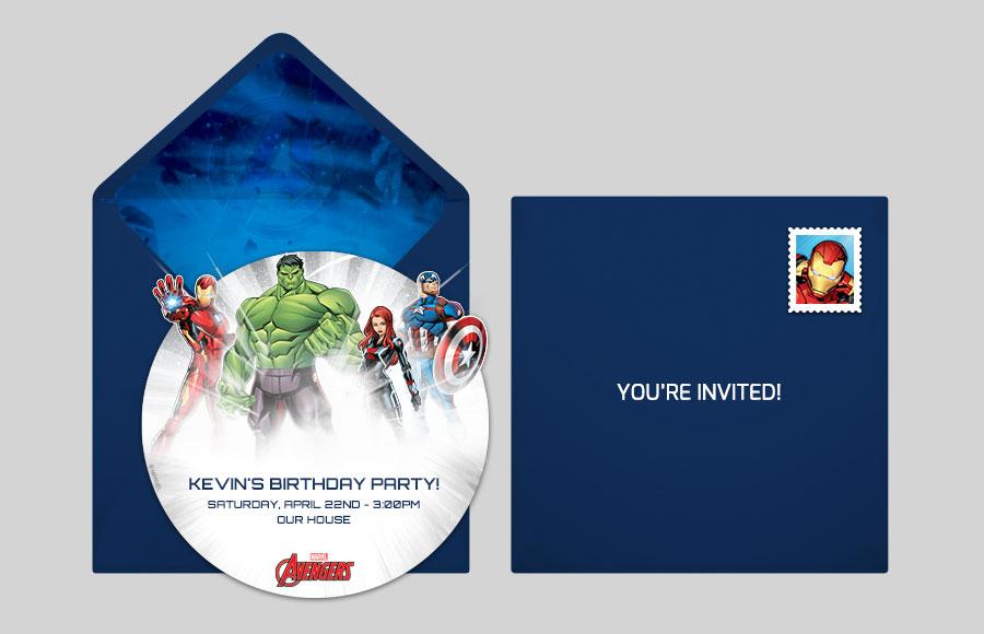 free avengers online invitations