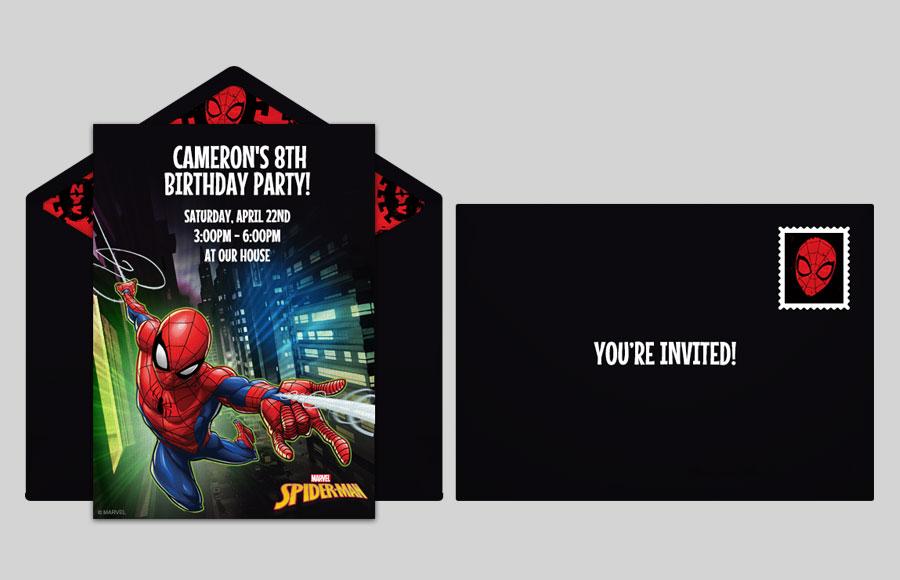 spider man online invitations