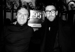 Pietro Beccariand a friend at thedinner at Pietro's place to celebrate his…