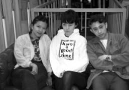 Togadesigner Yasuko Furuta, Rinko Kikuchi, and Chikashi Suzuki at theToga office, Tokyo….