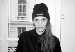 Marie Marotat her presentation wearing a Psy(chic) beanie from her F/W 2013…