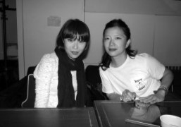 Hiromix and Toga designer Yasuko Furura in Tokyo. Photo Chikashi Suzuki