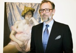 John Currin exhibition opening at the Gagosian Gallery, Los Angeles