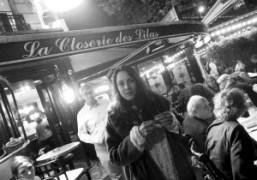 The French Film Director Juju Sorelli at La Closerie des Lilas, Paris….