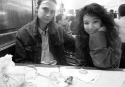 Sandy Kim and her boyfriend Colby Hewitt from DIIVat Ferrara's, New York….