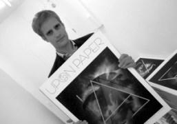 The Art Editor of the new art biannualUpon Paper, Boris Pofalla, holding…