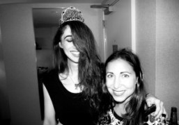 Yasmine Kittles and artist Allie Pohl at Yasmine's birthday party at the…