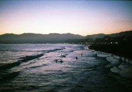 Pink sunset at the Santa Monica Beach, California. Photo Alexandra Gordienko