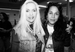 Cherie Currie of The Runaways with the French film director Juju Sorelli…