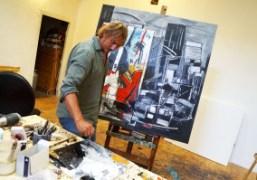 A visit to Marco Tamburro's studio, Rome