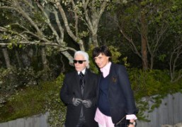 Karl Lagerfeld and Ines de la Fressange aftertheChanelcouture S/S 2013 show at…