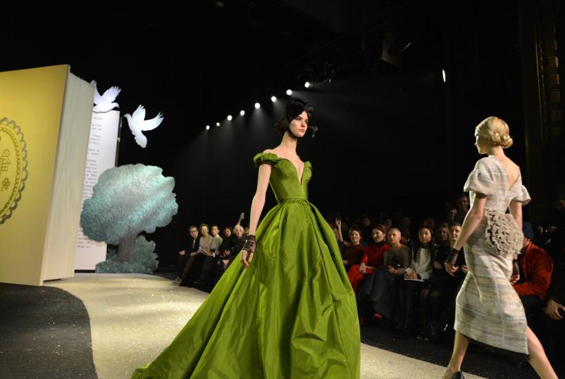 Ulyana Sergeenko couture S/S 2013 show, Paris