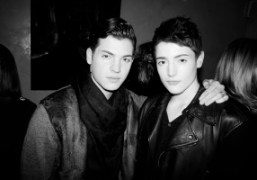Peter and Harry Brant at the Cocktail Party for the Wall Street…