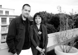 Aleksi Aubry-Carlson, composer and musician for Spiritual Journey, with artist and scenographer…