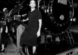 Marc Jacobs getting off the Louis Vuitton locomotive after the Fall/Winter 2012…