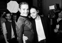 Natalia Vodianova and Stella McCartney after the Stella McCartney F/W 2012 Show,…