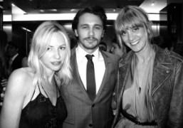 Heidi Bivens, James Franco and Frances Tulk Hart at the GQ and…