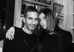 Marc Jacobs and Carine Roitfeld at the signing of Carine's new book…