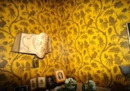 Wallpaper in Camille Bidault Waddington's summer house in Rabastens, South West of…