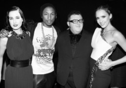 Dita Von Teese, Pharrell Williams, Alber Elbaz and Jessica Albaat the Alber…