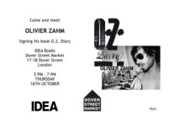 Join Olivier Zahm for his O.Z. Diary book signing this Thursday from...