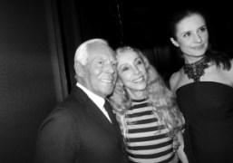 Giorgio Armani, Franca Sozzani and Livia Giuggioliafter Giorgio Armani Privé Couture S/S…