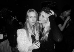 Mary Charteris and Poppy Delevigne at the Alice and Olivia dinner at…