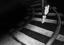Irina Lazareanu in her Charlotte Olympia shoes, New York.Photo Gavin Doyle
