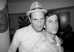 Aaron Rose and André Saraiva at the L'Officiel Hommes Fall 2013 launch…