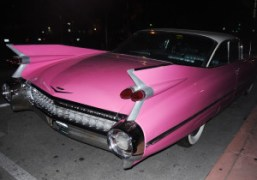 Vintage Cadillac outside of The Webster during Art Basel, Miami Beach. Photo…