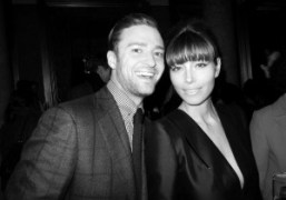 Justin Timberlake and Jessica Biel at the Tom Ford F/W 2013 show…