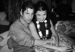 André Saraiva and Camille Miceli atthe opening of Le Baron Miami, Delano…