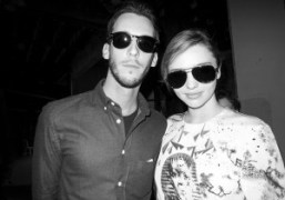 Vladimir Restoin Roitfeld and Miranda Kerr after the Vionnet S/S 2014 show,…