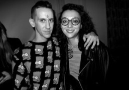 Masha Orlov and Jeremy Scott after the Jeremy Scott F/W 2012 Show,…