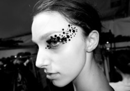 A model backstage at the Undercover S/S 2015 show atCouvent des Cordeliers,…
