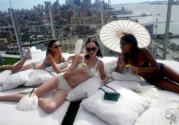 Prism's S/S 2014 presentation on the roof of the Standard Hotel, New…
