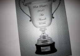 The Rob Pruitt 2010 Art Awards poster at Glenn O'Brien's place, New…