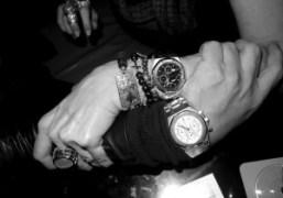Olivier and Tara'sAudemars Piguet Royal Oak watches at the Mercer Hotel, New…