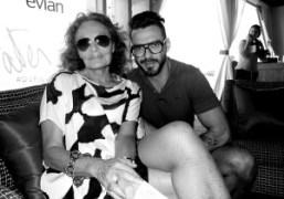 Diane Von Furstenberg and Lorenzo Martone at the DVF loves Evian Art…