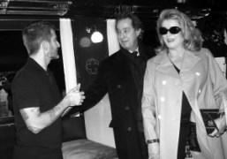 Marc Jacobs, Gilles Dufour, and Catherine Deneuve after the Louis Vuitton F/W…