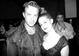 Casey Spooner and Kelly Osbourne after the Marc Jacobs S/S 2013 show,…