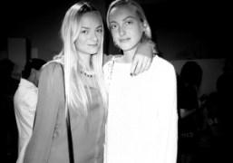 Virginie and Claire Courtin-Clarinsat the Rodarte show, New York.Photo Olivier Zahm