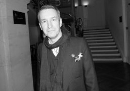 Dries Van Noten at a private tour ofhis Inspirations exhibition on view…