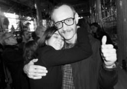 Carine Roitfeld and Terry Richardson at the Miu Miu F/W 2014 show…