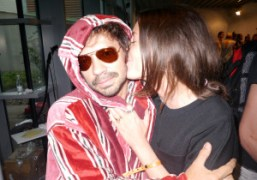 Olivier Zahm and Vanessa Reid(who is styling the show) after the Missoni…