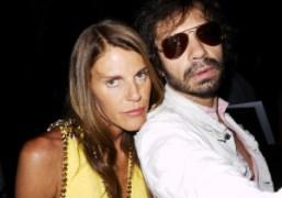 Anna Dello Russo and Olivier Zahm at the Dior Couture F/W 2011-2012…