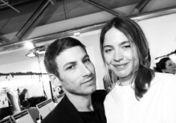 Ora Ito and Emily Marant at theVionnetF/W 2015 show, Paris.Photo Olivier Zahm